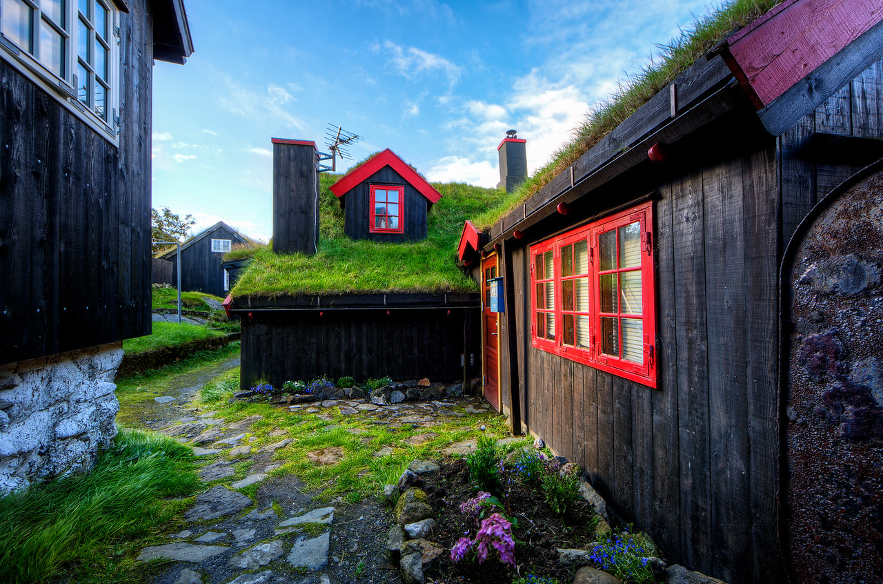 Grass Roof Homes in the Faroe Islands
