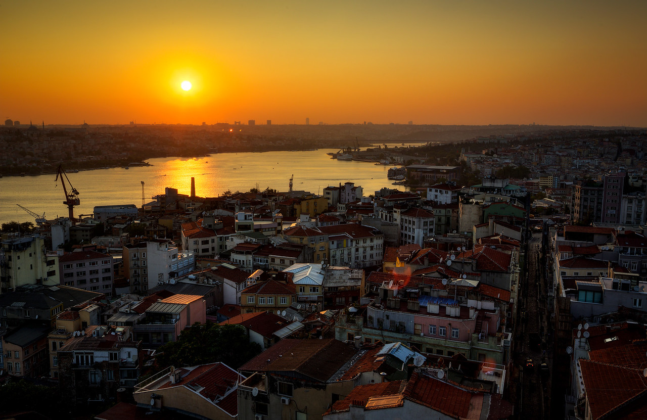 Sunset from the Galata Tower in Istanbul