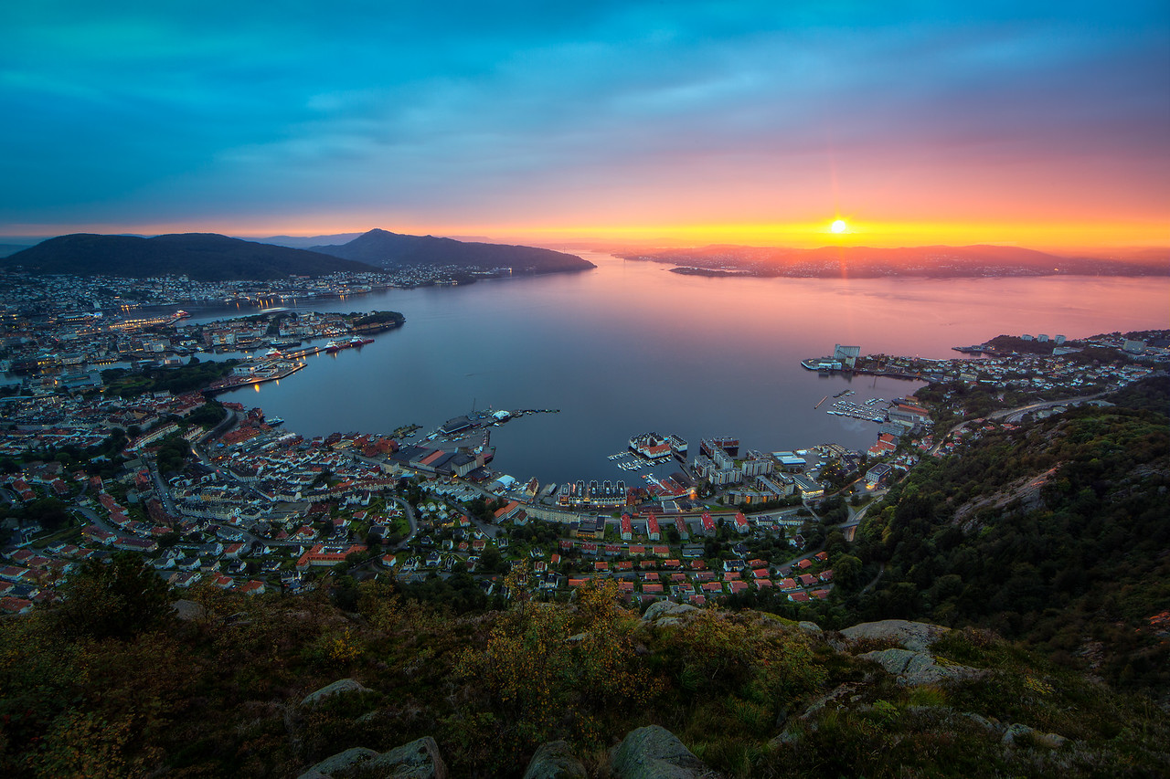 Sunset over Bergen